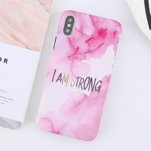 Accessories - I AM STRONG iPhone X and 8 Plus Phone Case